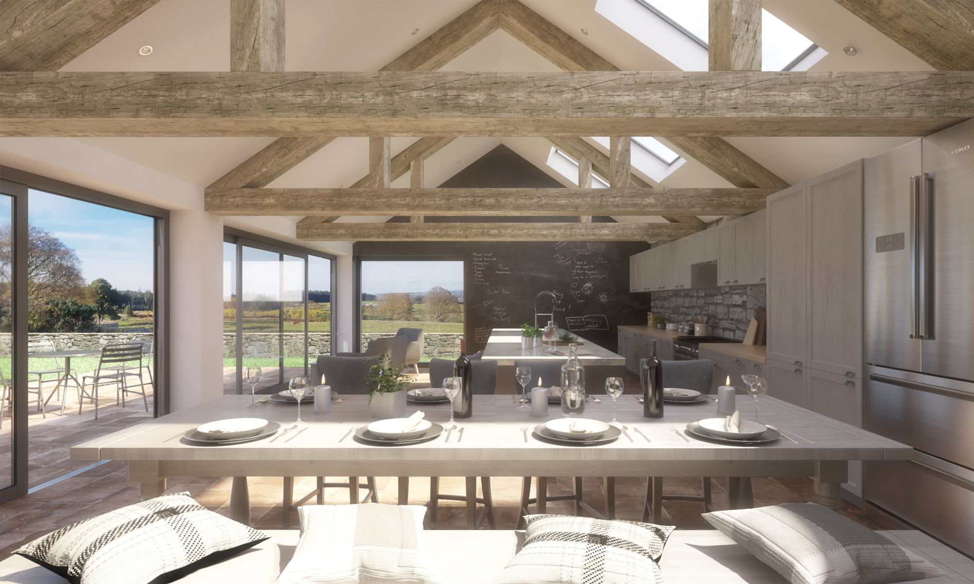 Binfield Comb Barn Extension Interior