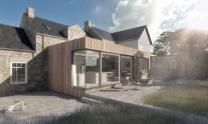 Gable House Extension Flat Roof