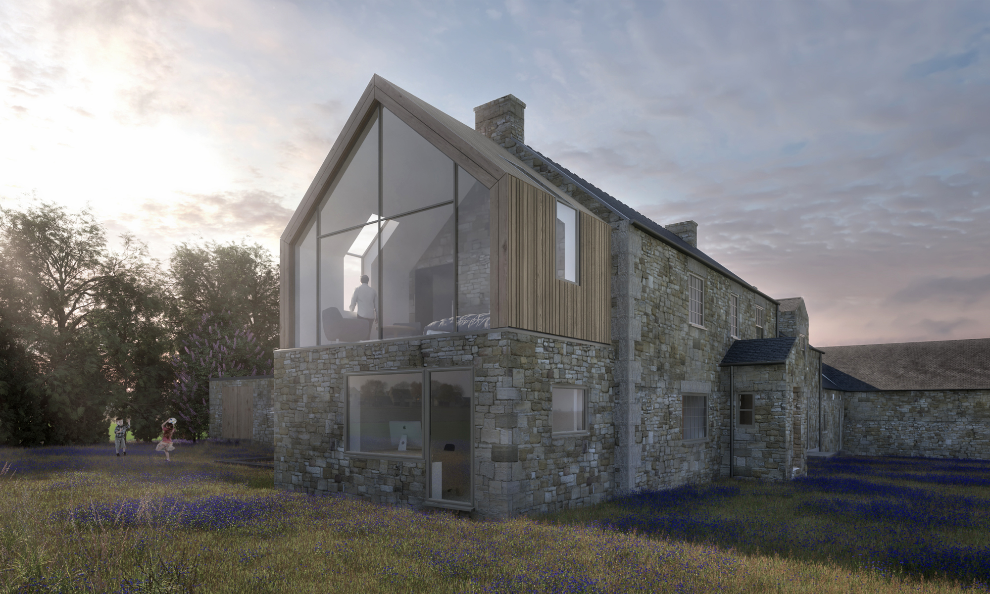 Heatherden House Extension Gable End