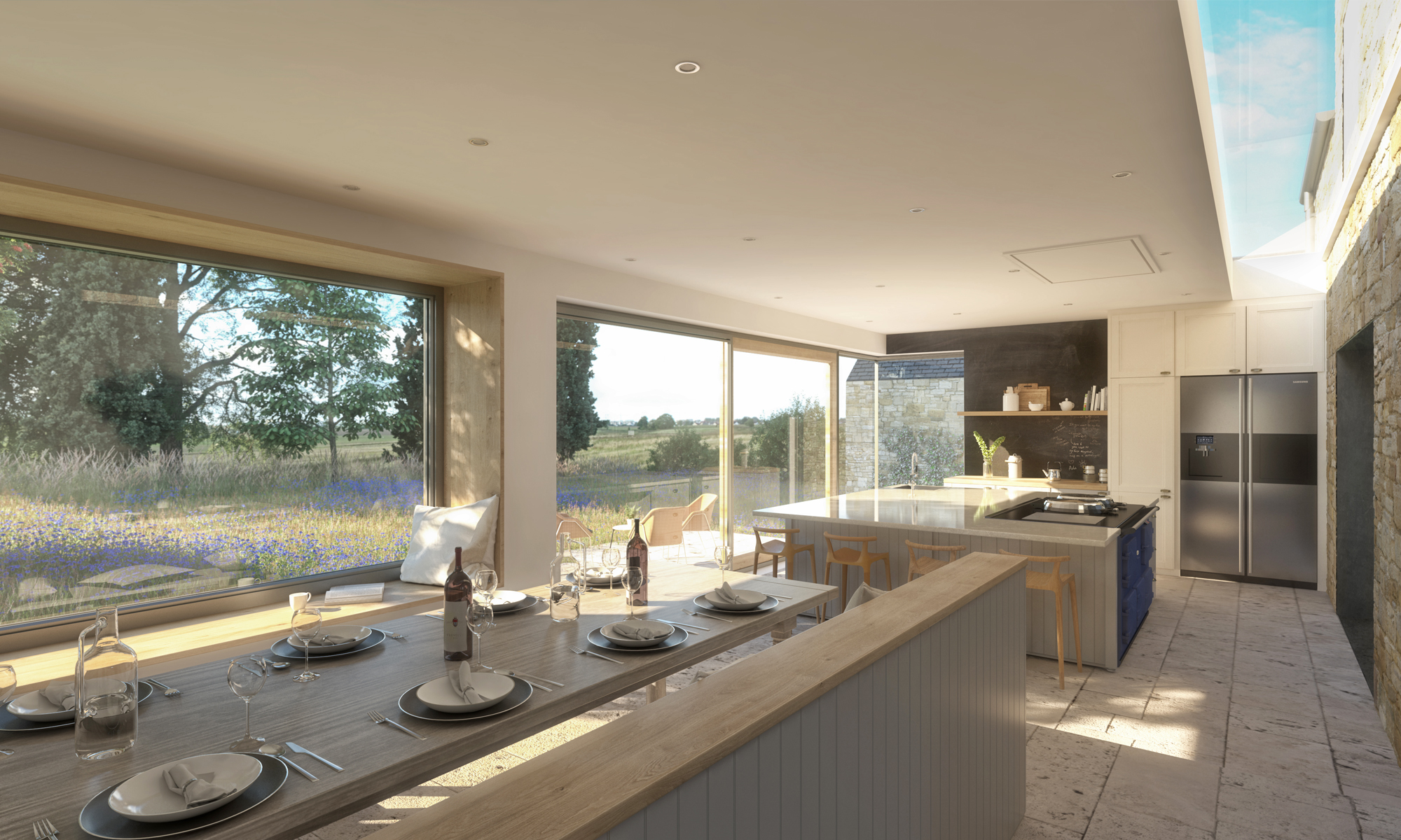 Heatherden House Extension Open Plan Kitchen Dining