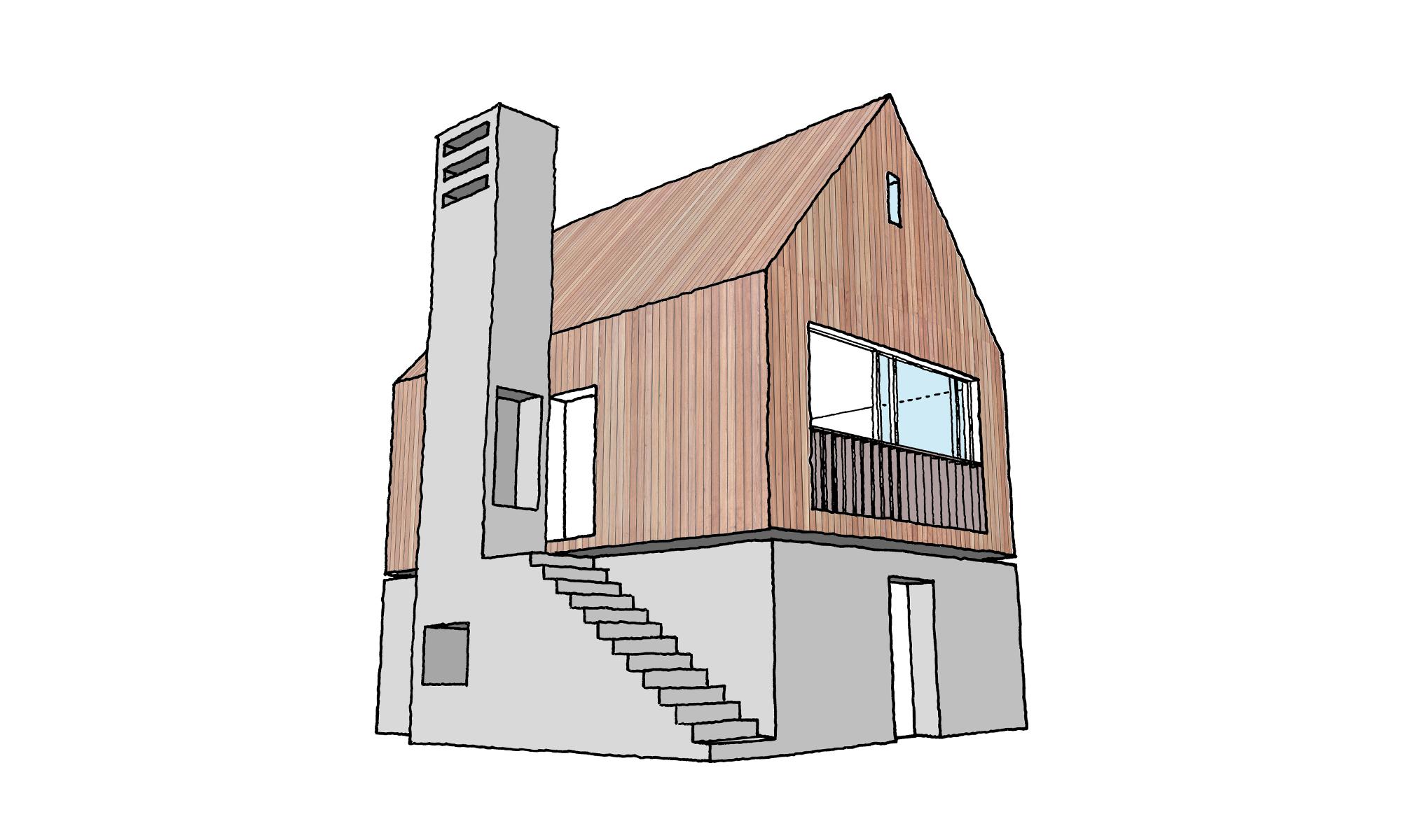 Hesleyside Walled Garden Sketch Bastle Lodge