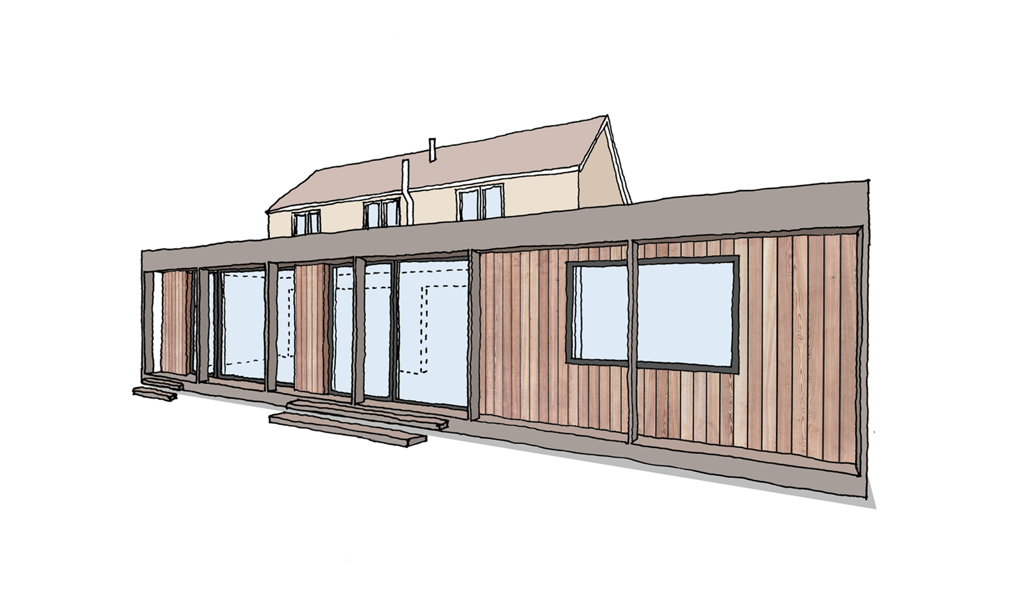 Bungalow Extension Project Hexham North East