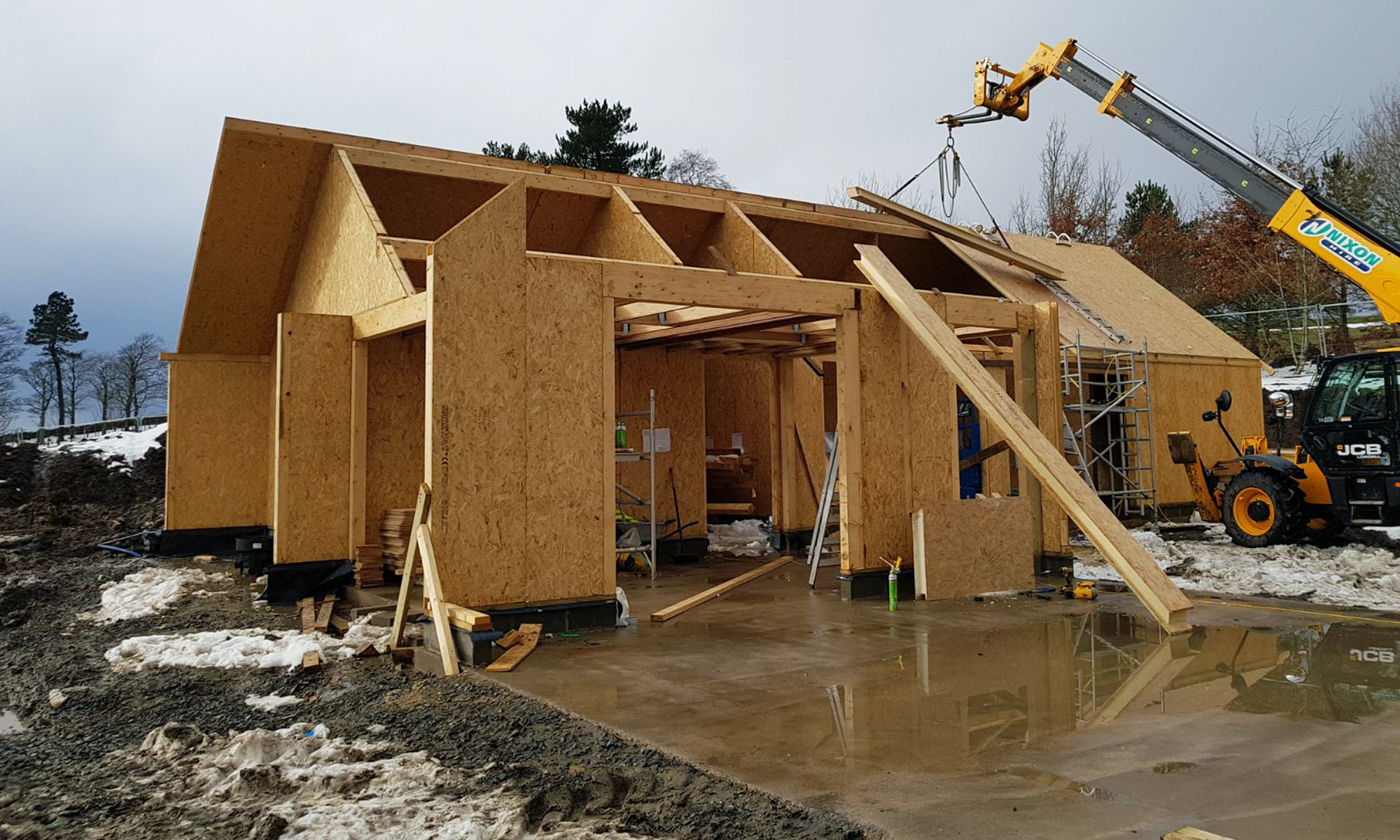 Hopedene House Site Progress Allendale Northumberland