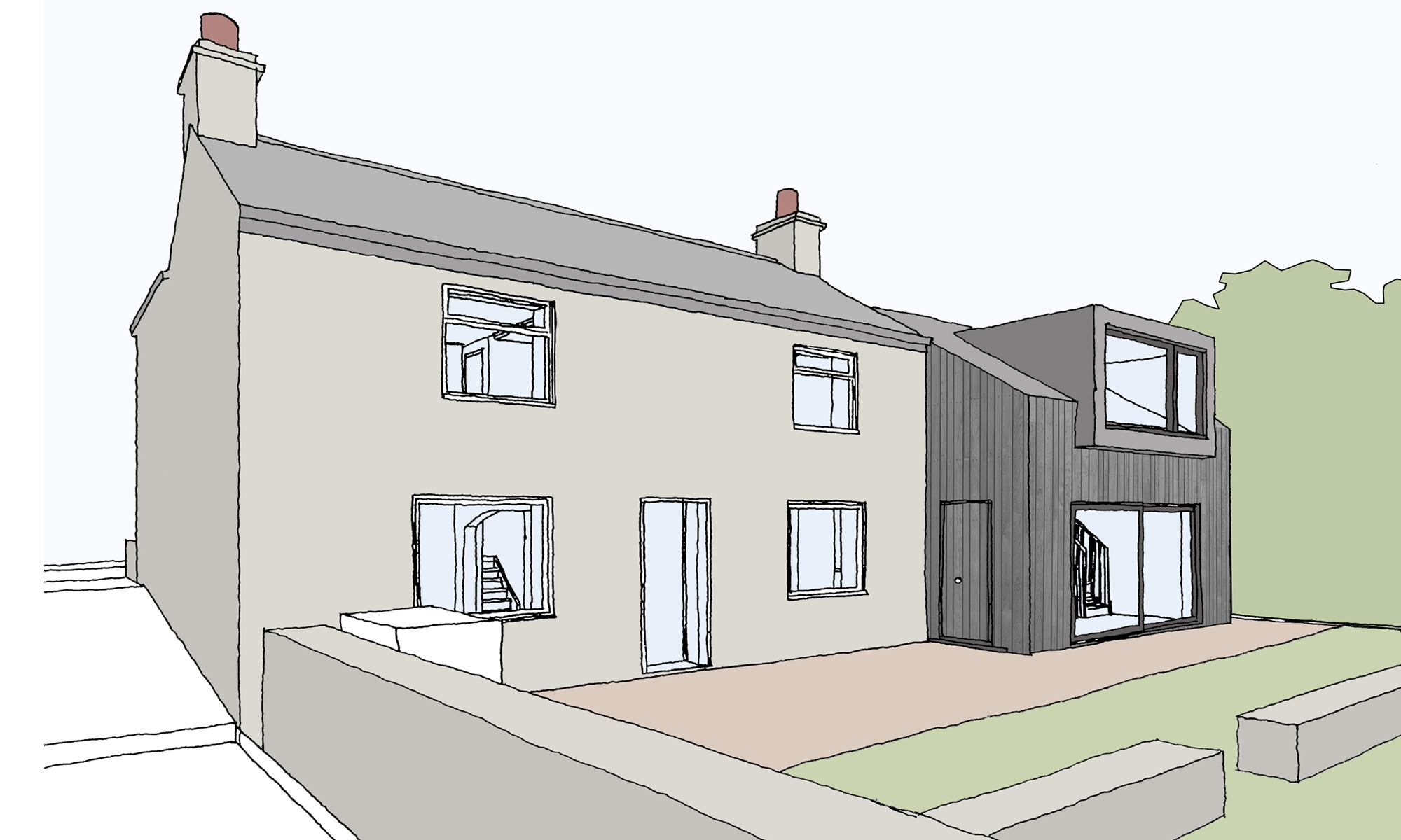 Concept Design Allendale Extension Oakey Dene Northumberland