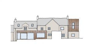 Concept sketch Gable House