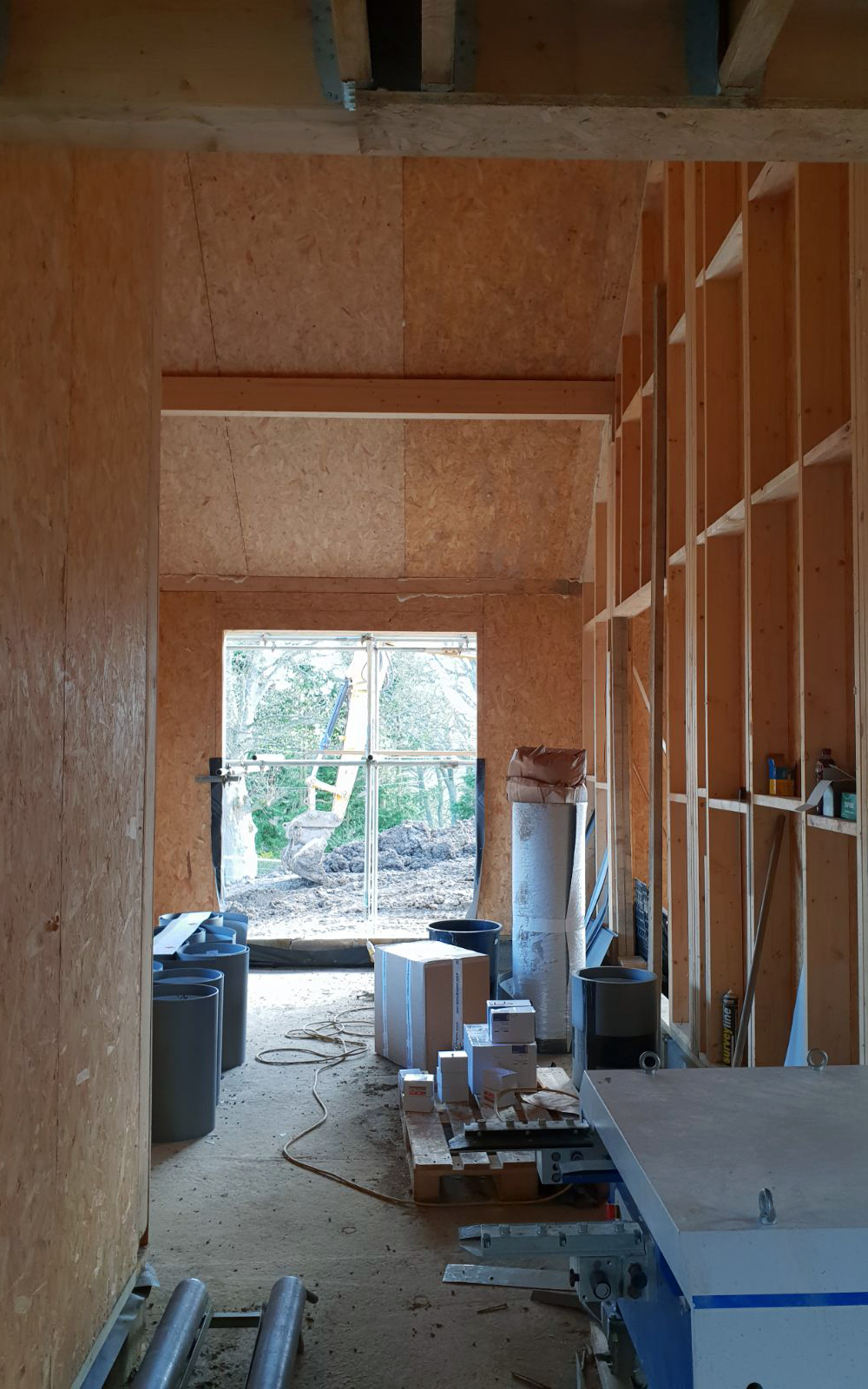 Hopedene house Progress Interior