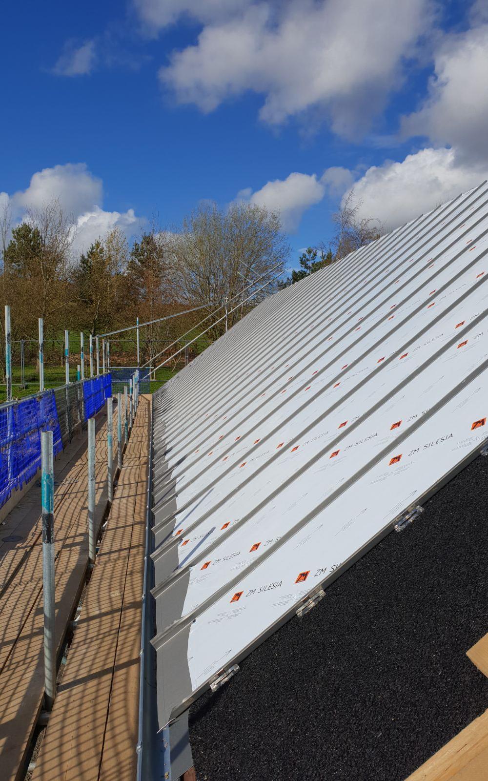 Hopedne House Progress Zinc Roof