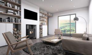 Living Room Interior Render