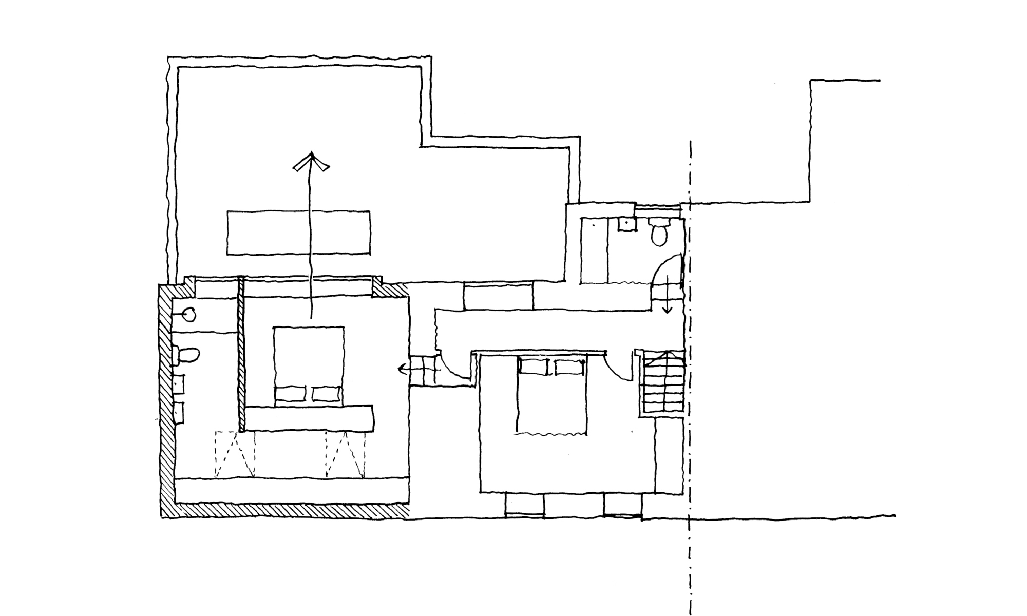 WEST COTTAGE EXTENSION SKETCH