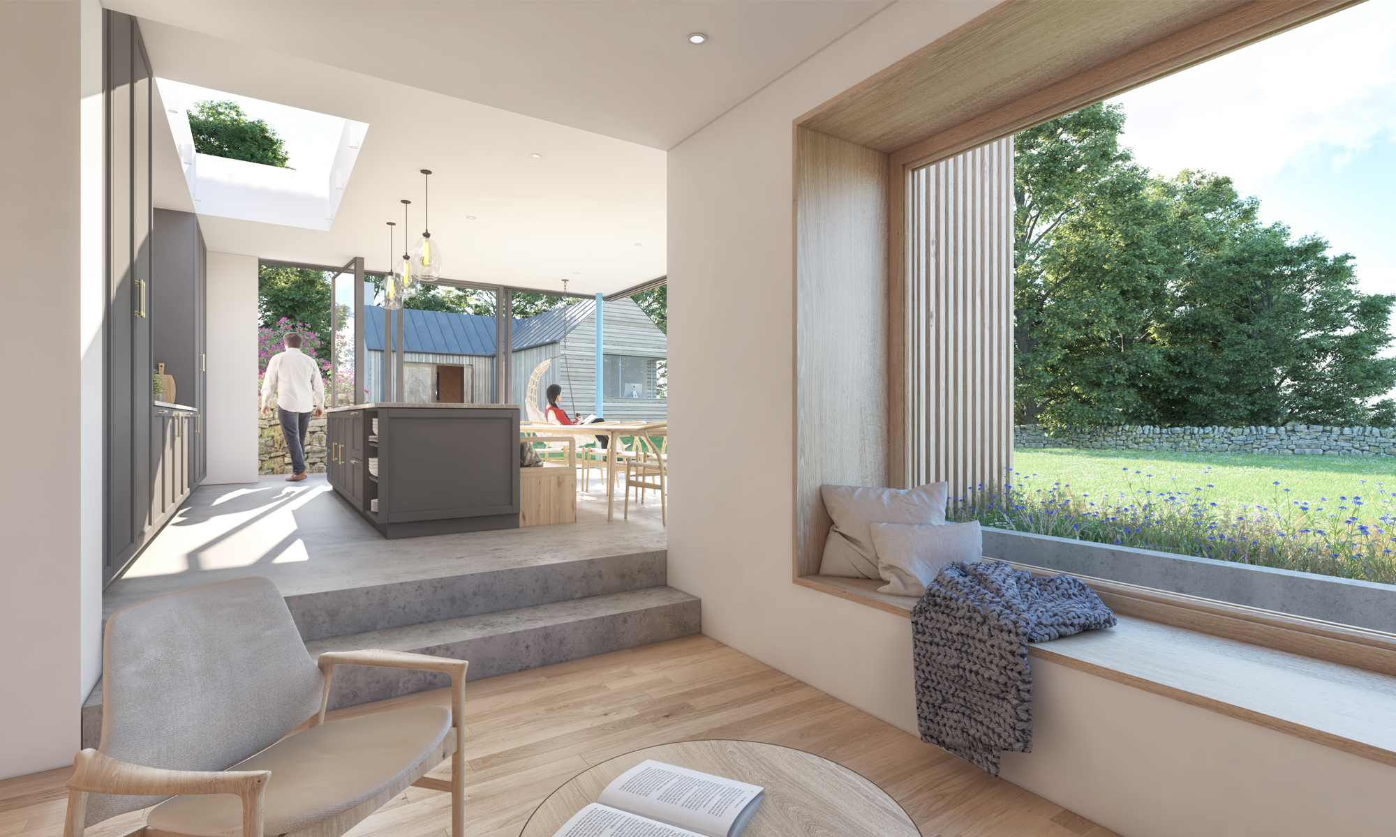 WEST COTTAGE INTERIOR RENDER
