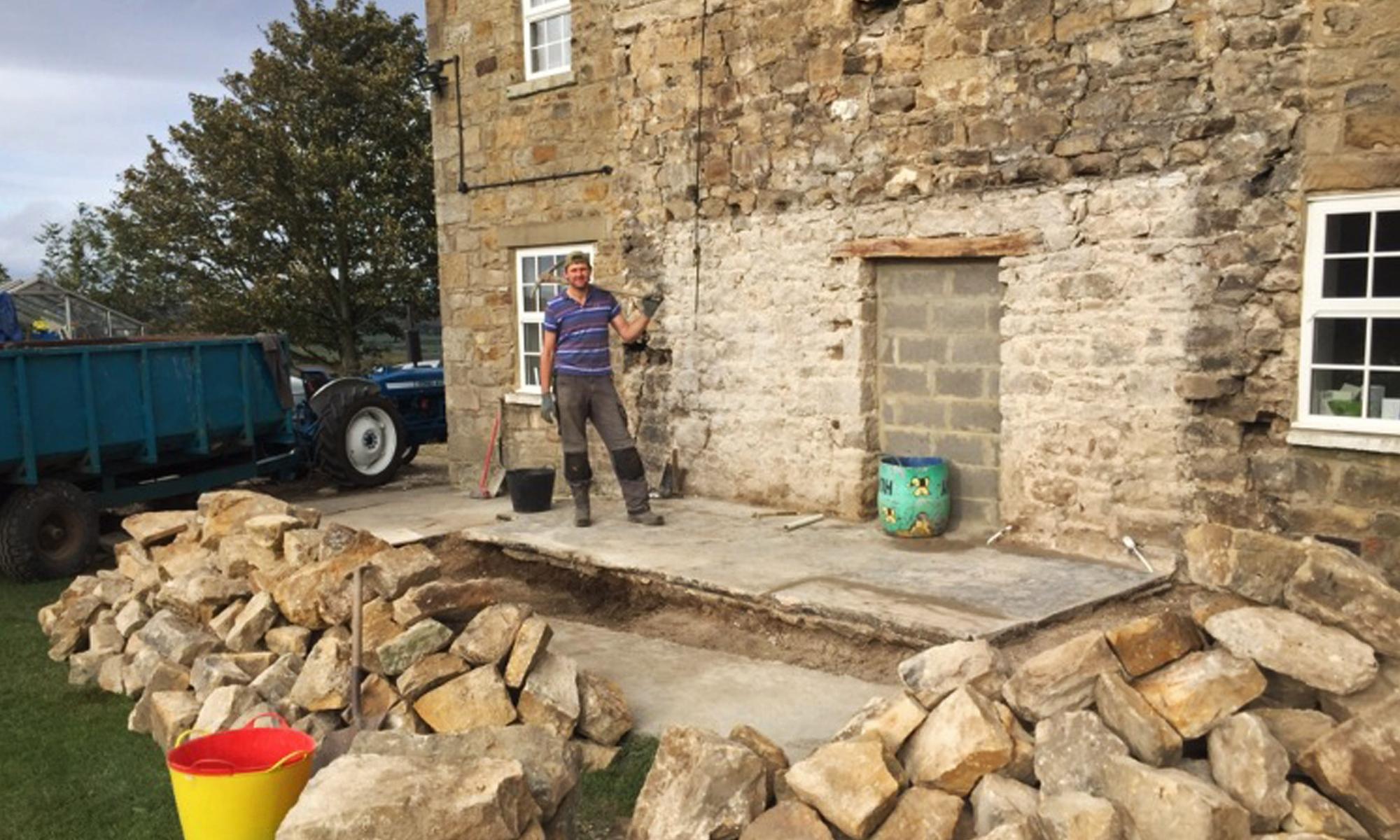 Hallyards Extension Progress photos
