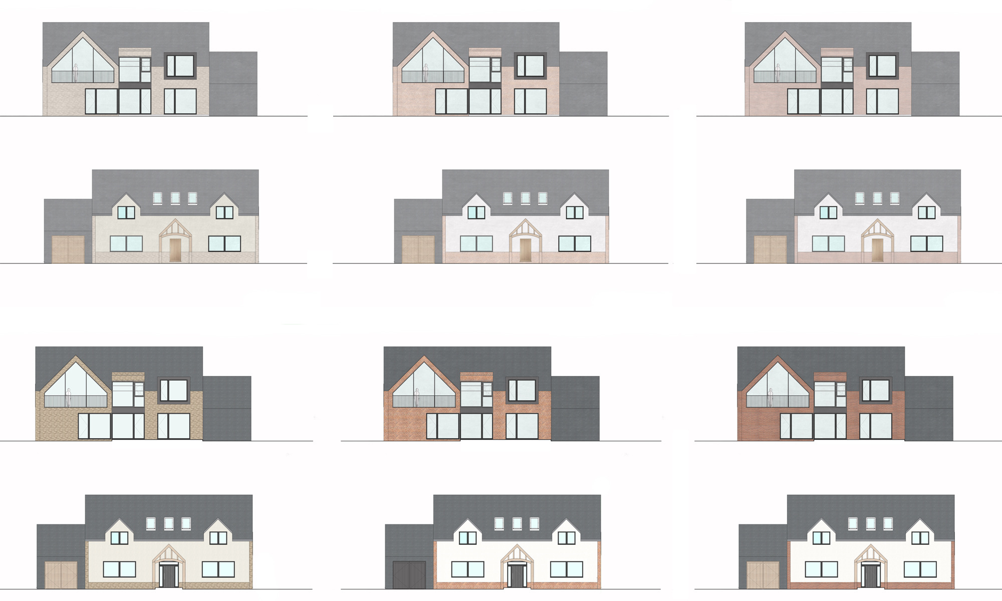 The Dual House Elevation Studies