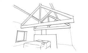 Bedroom Rafters