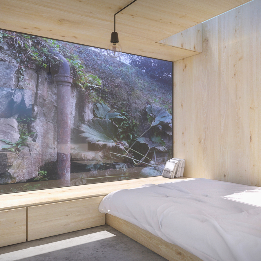 Pod Bedroom for our Mill Conversion Project in Northumberland
