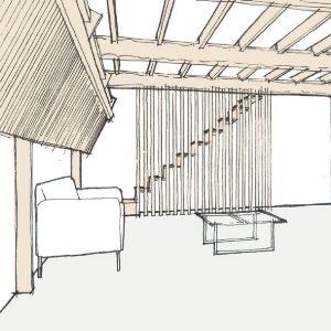 Grade II Listed Barn Living Room