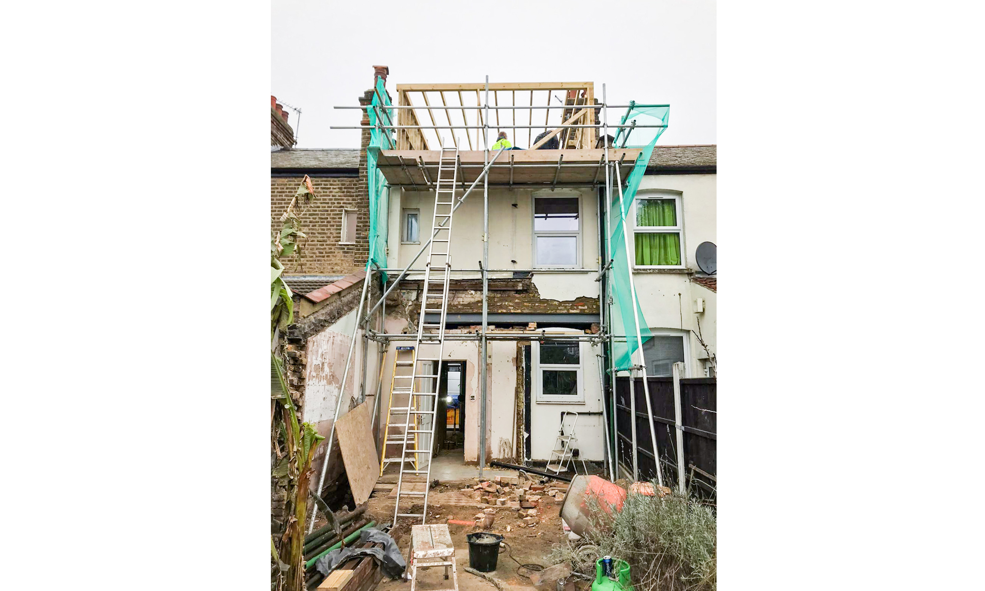 East london house on-site