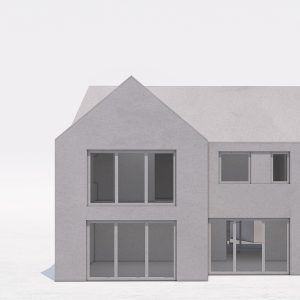 Planning Granted for New Build Stepped House